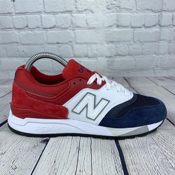 new balance red white blue